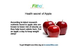Health Secret of Apple