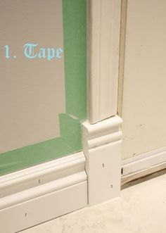 How To Caulk and Paint Your Trim Moulding - tips on how to get a professional looking finish. Used correctly, caulk is a DIY'ers best friend because it hides all of the gaps. Home Renovation, Home Remodeling, Home Improvement Projects, Home Projects, Moldings And Trim, Moulding, Crown Moldings, Trim Work, Painting Trim