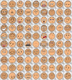 Great idea for teaching emotions using CatKit faces - sew felt smiley, sad, etc faces or draw on ping pong balls