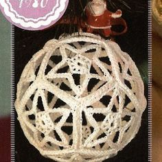 free crocheted ornament cover patterns | Crochet Star Motif Hollow Ball Christmas Ornament Pattern ...