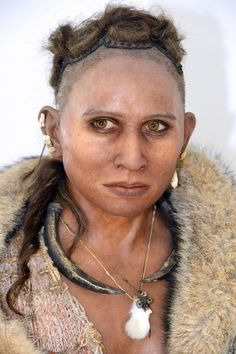 Pataud woman - 17,000 years old. Her bones were found in a rock shelter in France's southwestern Dordogne region. Reconstruction by Elisabeth Daynes.