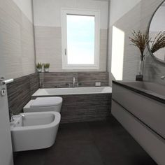 35 Genius Bathrooms Design Ideas for Small Spaces to Make your Home Feel Bigger Modern Bathroom, Small Bathroom, Casa Loft, My Ideal Home, Bath Remodel, Bathroom Interior Design, Bathroom Renovations, Bathroom Furniture, New Homes