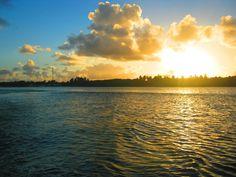 Por do sol na Lagoa de Mundaú.