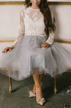 Image result for grey tulle skirt outfit