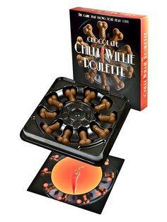 Lustiges und 'süßes' Partyspiel: #Schoko Chilli Willie Roulette  - perfekt für den #Junggesellinnenabschied oder nächsten Mädels-Abend! #JGA #bachelorette