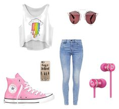 """""""Back to School"""" by ernyy ❤ liked on Polyvore featuring G-Star, Converse, Christian Dior, Casetify, Beats by Dr. Dre, women's clothing, women, female, woman and misses"""
