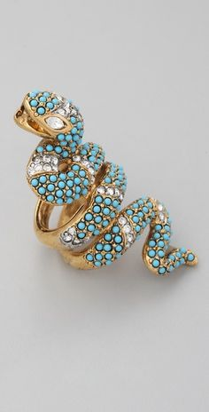 Kenneth Jay Lane, Coil Snake Ring.  Guess I love the combination of animals and jewels!