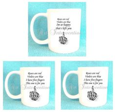 Funny ADULT Valentines Day mugs  FOR EX'S. by CreativeIntervention