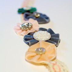 Ribbon Flowers : DIY Velvet Ribbon Flowers Tutorial