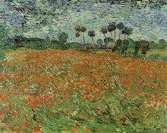 Vincent van Gogh, Papaverveld 1890, Privéverzameling Schirach
