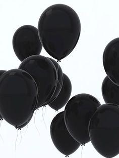 - Black Balloons against a White Background - #blackandwhite #Balloons #Black http://www.pinterest.com/TheHitman14/black-and-white/
