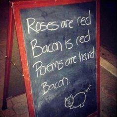 I love bacon poems...  Hawksmoor bacon poem