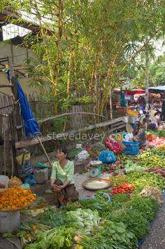 Vegetables for sale at the Morning Market, Luang Prabang, Laos