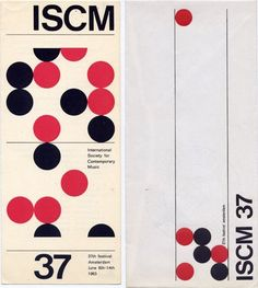 ISCM 37 Leaflet, International Society for Contemporary Music ISCM, 1963