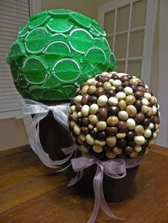 food topiary centerpieces   ... (lime) gummy slices and espresso beans to create these centerpieces