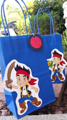 Jake in the Neverland Pirates Party Favor Bags. 12 pieces. $9.00