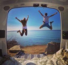Views from inside Van Car, Van Living, Van Life, Freedom, Camping, River, Explore, Instagram Posts, Image