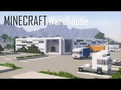 (3) Minecraft Warehouse/Logistics Center (full interior) + Download - YouTube Minecraft Modern City, Construction Minecraft, Minecraft Kingdom, Minecraft City Buildings, Minecraft Castle, Minecraft Houses Blueprints, Minecraft Plans, Minecraft House Designs, Minecraft Tutorial