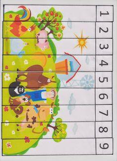 Preschool Puzzles, Numbers Preschool, Sorting Activities, Free Preschool, Activities For Kids, Classroom Projects, Math Classroom, Body Parts Preschool, English Grammar For Kids