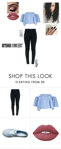 """""""Drake Concert"""" by sonialicetmartinez ❤ liked on Polyvore featuring Vans, Lime Crime, 60secondstyle and outdoorconcerts"""