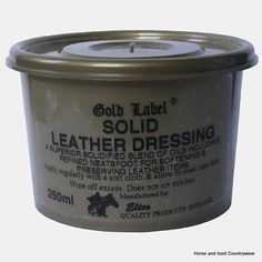 Gold Label Solid Leather Dressing Non-spill pack for softening and preserving leather Keeps leather supple and does not rot stitches.