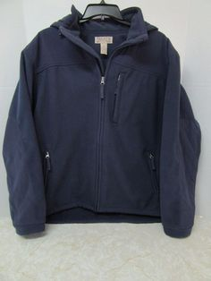 Duluth Trading Co. Blue Fleece Jacket Coat Size 2XL XXL Mens Fall Winter Hood #DuluthTradingCo #FleeceJacket