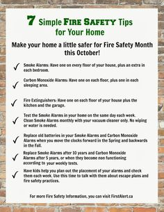 Creek Line Sponsor Blog: 7 Easy Fire Safety Tips for Your Home - Free Printable!