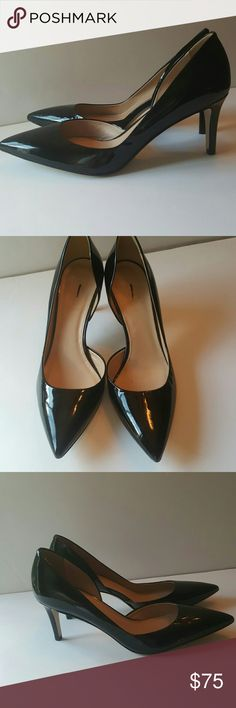"""J.crew Valentina patent d'Orsay pumps black A classically chic pump designed with sleek lines and a versatile wear-all-day heel. Patent leather upper.Leather lining.Made in Italy.2 3/4"""" heel. Stored in a smoke free and pet free home mark on label to preveny store return no box J. Crew Shoes Heels Designer Pumps, Black Pumps, Fashion Tips, Fashion Trends, Fashion Design, Patent Leather, J Crew, Kitten Heels, Label"""