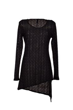 NZ Designer Clothes for Women Lacy Tops, Black Lace Tops, Loose Fitting Tops, Loose Tops, Summer Tunics, Summer Tops, Long Sleeve Tunic, Long Sleeve Tops, Lace Tunic