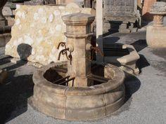 Fontaine murale, centrale, avec finition vieillie patinée en pierre ...