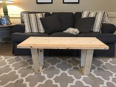 Reclaimed pallet wood coffee table. Clean, sleek, minimal.