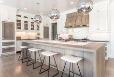 """Trend #4:Mixed Material Custom Cabinetry """"Custom cabinetry with unique…"""