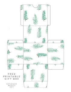 Print and fold these pretty succulent patterned gift boxes and make those handmade gifts extra special. Leaves Template Free Printable, Leaf Template, Eid Crafts, Paper Crafts, Foam Crafts, Paper Art, Eid Boxes, Printable Scrapbook Paper, Box Patterns