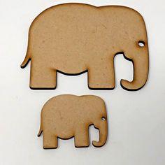 Elephant craft shape 50mm and 100mm high, craft embellishment mdf wood design