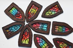Stained glass window cookies, made from chocolate dough and jolly ranchers! #Catholictreats Pixel Whisk: August 2013