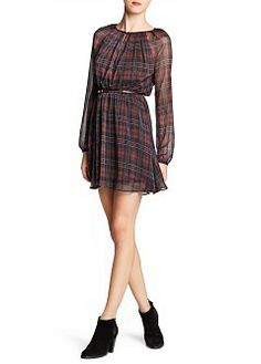 MANGO - CLOTHING - Dresses - Check chiffon dress