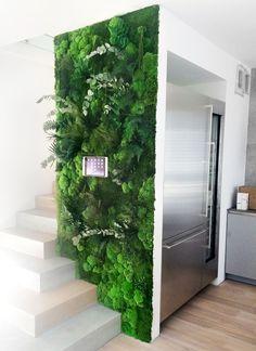 House Plants Decor, Plant Decor, Vertikal Garden, Moss Decor, Vertical Garden Design, Moss Wall Art, Green Wall Art, Interior Garden, Green Rooms