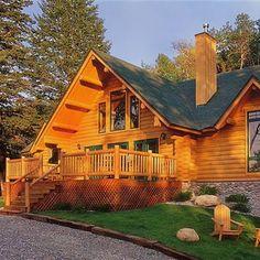 PalisadeLog Home constructed by Lumberjack Log Homes of Gallatin GatewayMontana.
