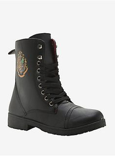 Stomp around the halls of Hogwarts // Harry Potter Hogwarts Combat Boots