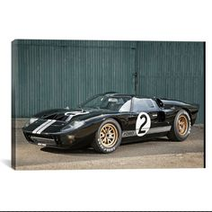 1966 Ford GT40 Le Mans Race Car What a way to decorate! your favorite pieces of history on a nice canvas. A perfect way to match up your mancave, bedroom, garage, gameroom etc. Great Art Deserves to b