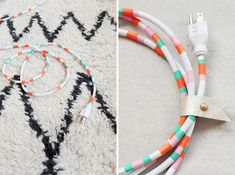 Washi Tape + Leather Snap | 11 Ways to Cover Your Cords