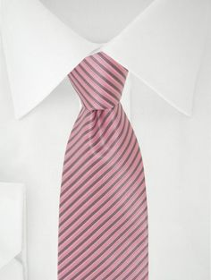 Stropdas roze/grijs strepen