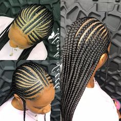 For Black Women 50 Short Feed in Braids for Black Women - Protective Hairstyles, Thinking about a new short feed in braids for black women hairstyle? Then you are in the right place to check all these protective hairstyles on the. Box Braids Hairstyles, Protective Hairstyles, Girl Hairstyles, Protective Styles, Kids Hairstyle, Toddler Hairstyles, Hairstyles 2018, Bridal Hairstyles, Hairstyle Ideas