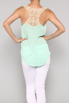 Mint Racerback Tank..  Getting this for summer!