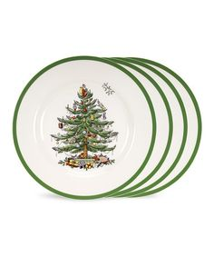 Take a look at this Christmas Tree Dinner Plate - Set of Four by Spode on #zulily today!