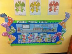 Whos at Nursery Display, Classroom Display, class display, nursary, sign in, register, classroom, today, Early Years (EYFS), KS1 & KS2 Primary Resources