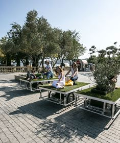 parkcycle swarm | a mobile green space | baku 2013 | by: rebar group & n55