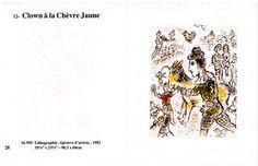 Marc Chagall, œuvres choisies, 1987