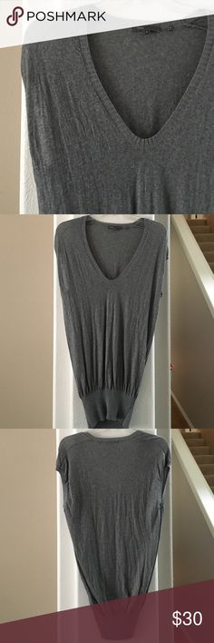 """Flash sale! ⚡️⚡️Vince  sleeveless tunic sweater Beautiful grey Vince merino wool v neck tunic sweater. Excellent preowned condition. Size small- 17"""" across chest and 30"""" long. Vince Sweaters V-Necks"""