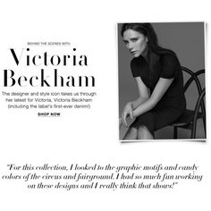 Victoria Beckham Dresses, Denim Resort 2016 ❤ liked on Polyvore featuring text, magazine article and victoria beckham